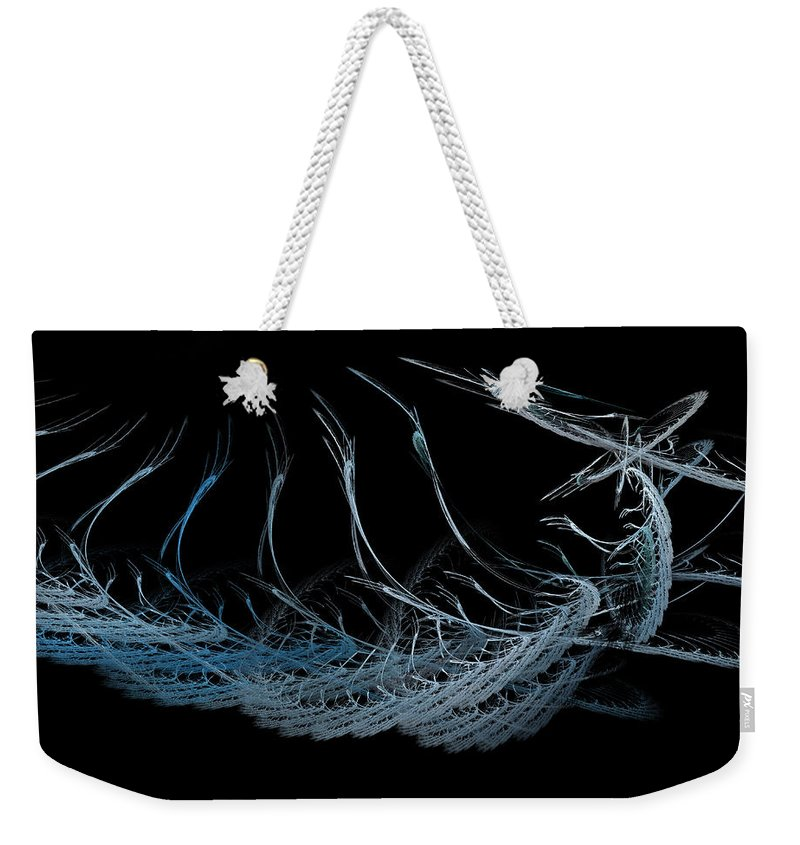 Utensils Weekender Tote Bag featuring the digital art Utensils by Betsy Knapp
