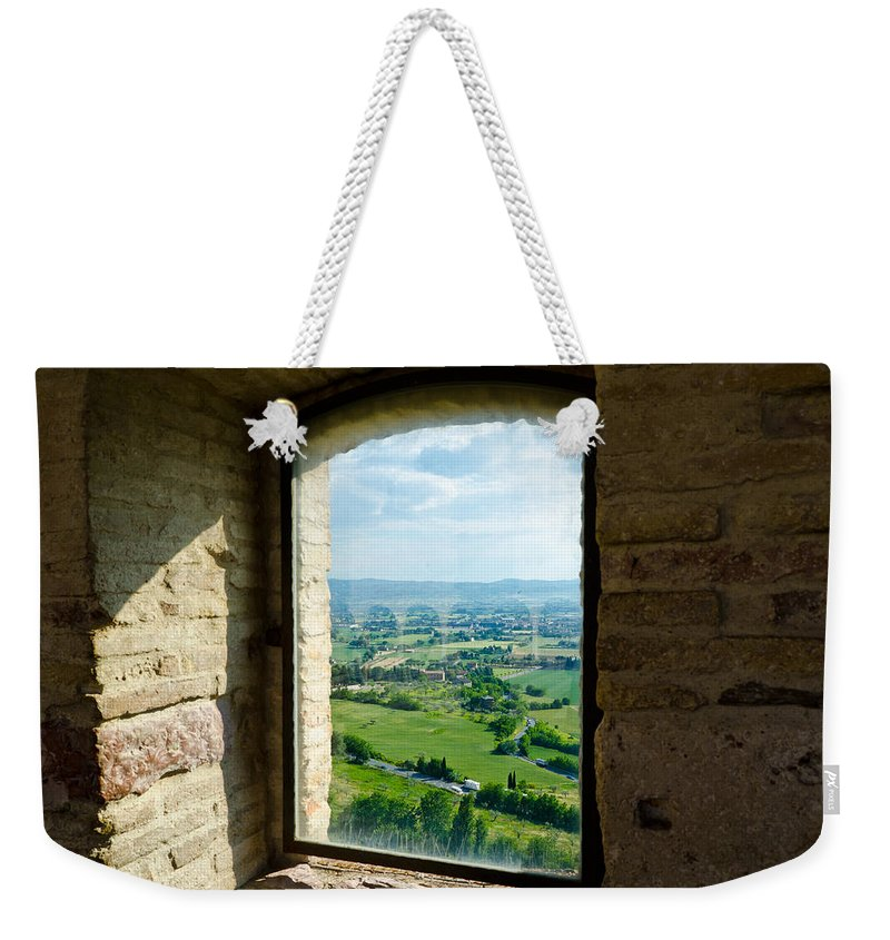 Valley Weekender Tote Bag featuring the photograph Valley View by Jon Berghoff