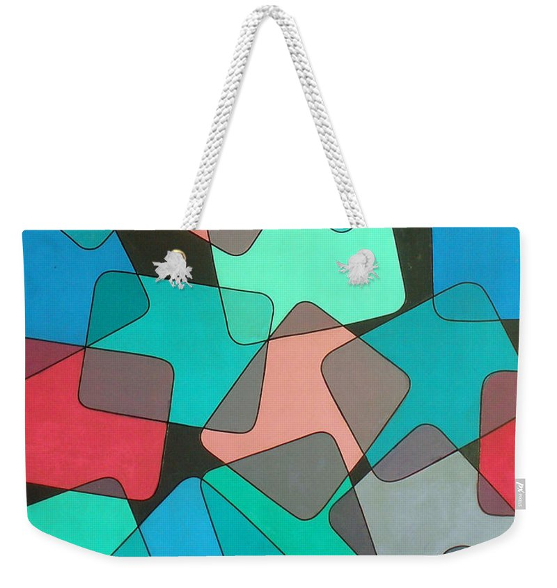 Australian Weekender Tote Bag featuring the painting Variations 1 by Giro Tavitian