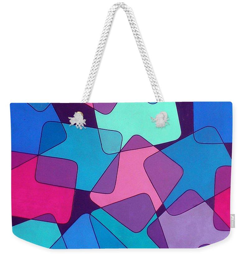 Australian Weekender Tote Bag featuring the painting Variations 6 by Giro Tavitian