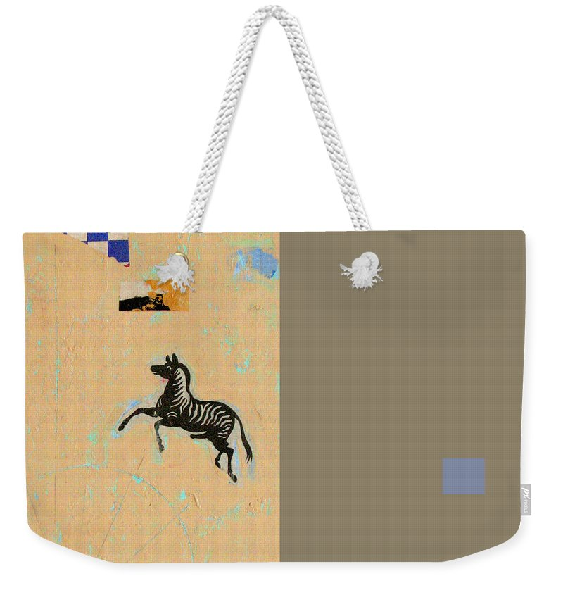 Conceptual Weekender Tote Bag featuring the painting Variations Equine by Kathleen Grace