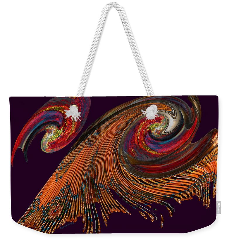 Abstract Weekender Tote Bag featuring the photograph Variegated Abstract by DigiArt Diaries by Vicky B Fuller