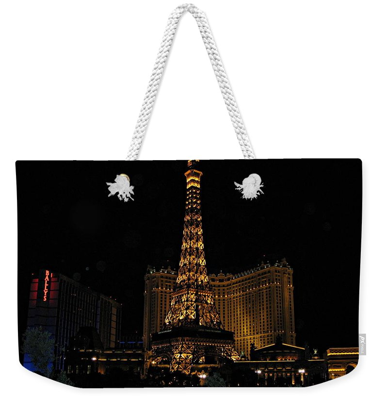 Las Vegas Weekender Tote Bag featuring the photograph Vegas by Kume Bryant