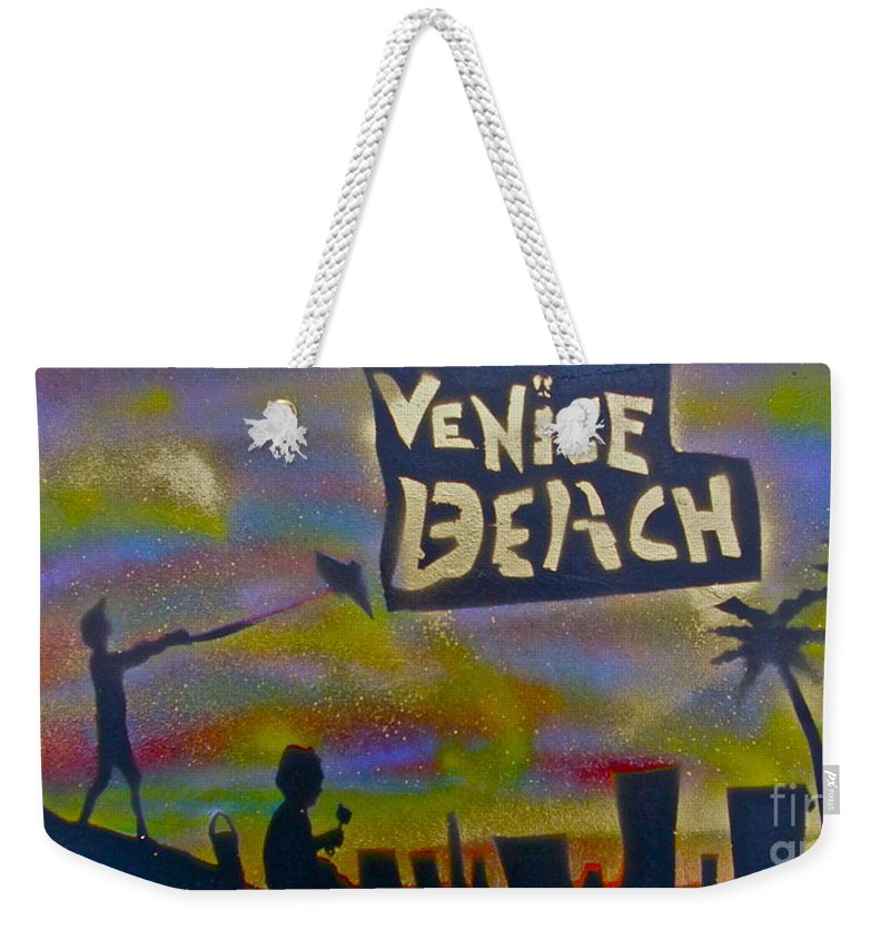Mermaid Weekender Tote Bag featuring the painting Venice Beach Life by Tony B Conscious