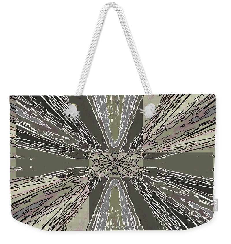 Abstract Weekender Tote Bag featuring the digital art Verve 1 by Tim Allen