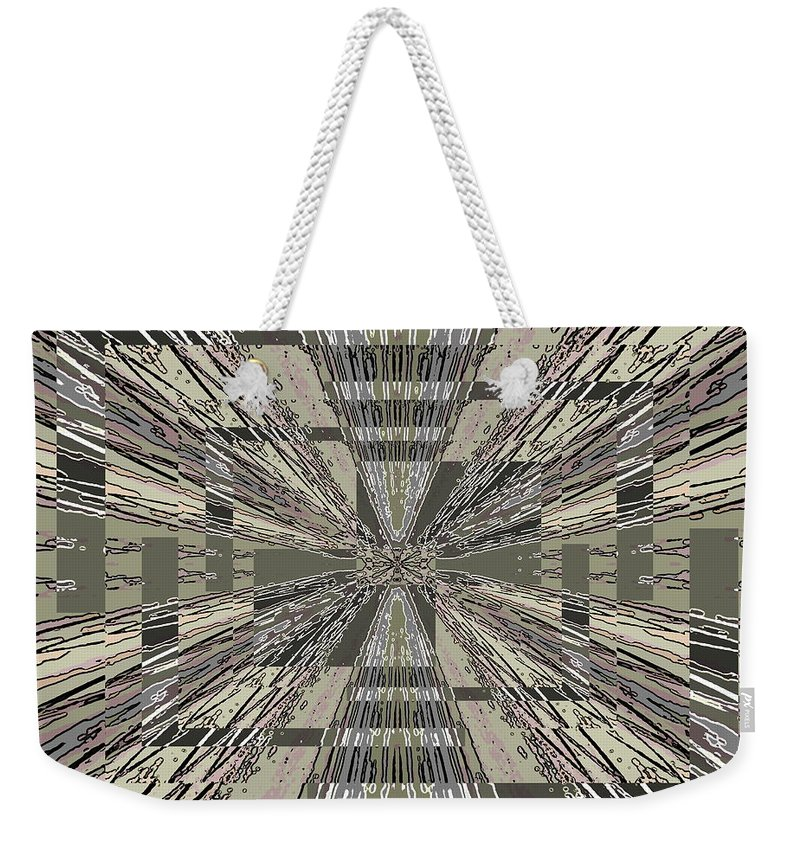 Abstract Weekender Tote Bag featuring the digital art Verve 8 by Tim Allen