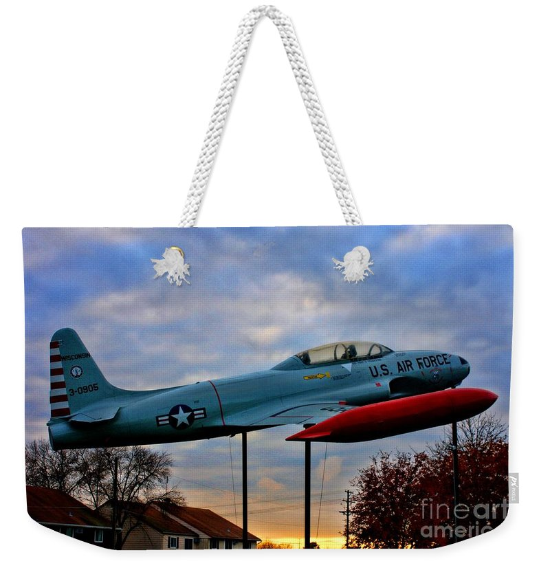 Vfw Weekender Tote Bag featuring the photograph Vfw F-80 Shooting Star by Tommy Anderson