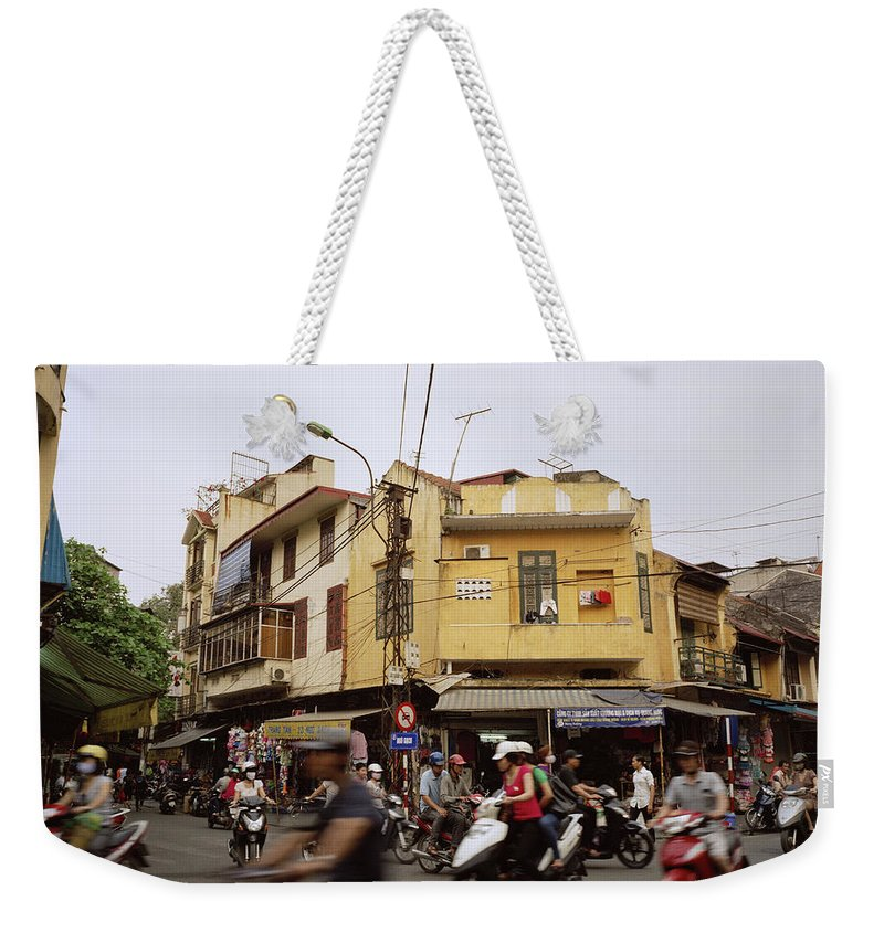 Asia Weekender Tote Bag featuring the photograph Vibrant Hanoi by Shaun Higson
