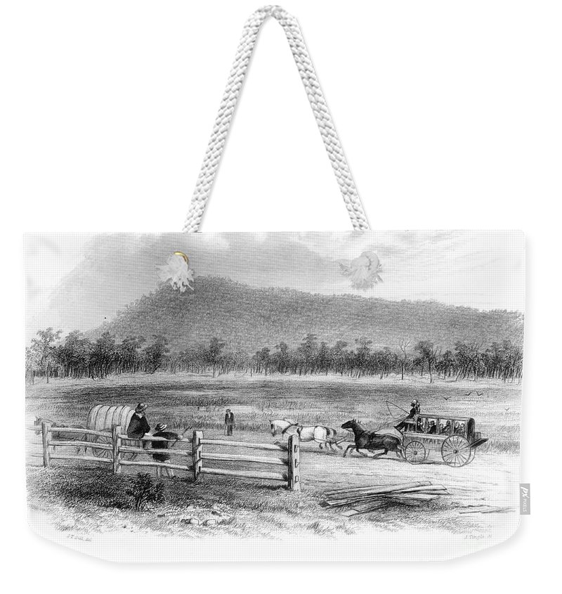 1856 Weekender Tote Bag featuring the photograph Victoria, Australia, 1856 by Granger