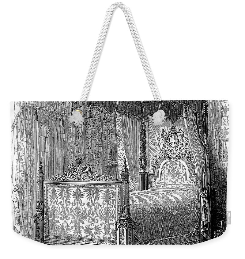 1846 Weekender Tote Bag featuring the photograph Victorian Bed, 1846 by Granger