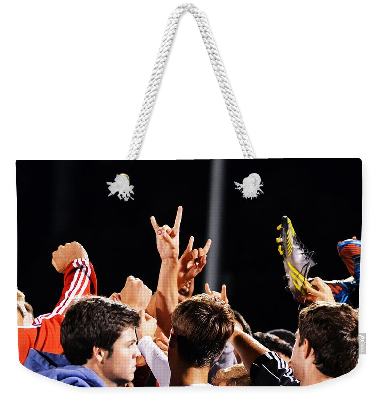 Glenelg Vs Howard Weekender Tote Bag featuring the photograph Victory Baby by La Dolce Vita