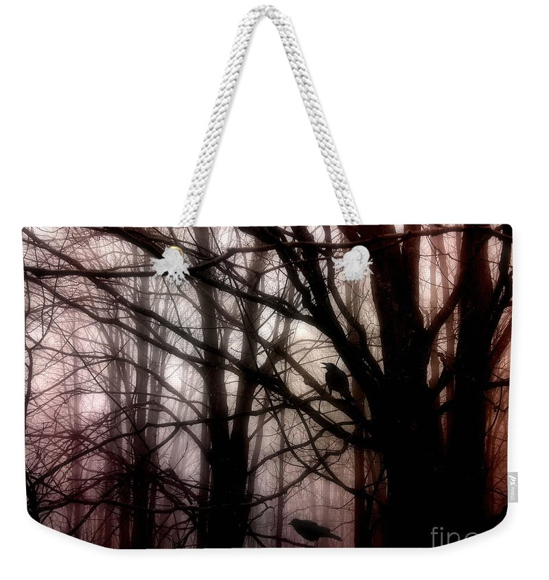 Crows Weekender Tote Bag featuring the photograph Victory For Two by Angie Rea