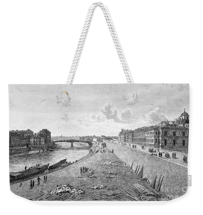 1821 Weekender Tote Bag featuring the photograph Vienna: Danube, 1821 by Granger