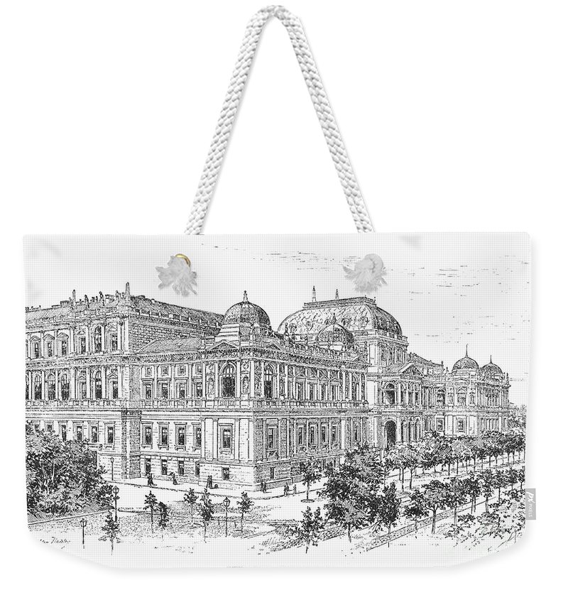 1889 Weekender Tote Bag featuring the photograph Vienna: University, 1889 by Granger