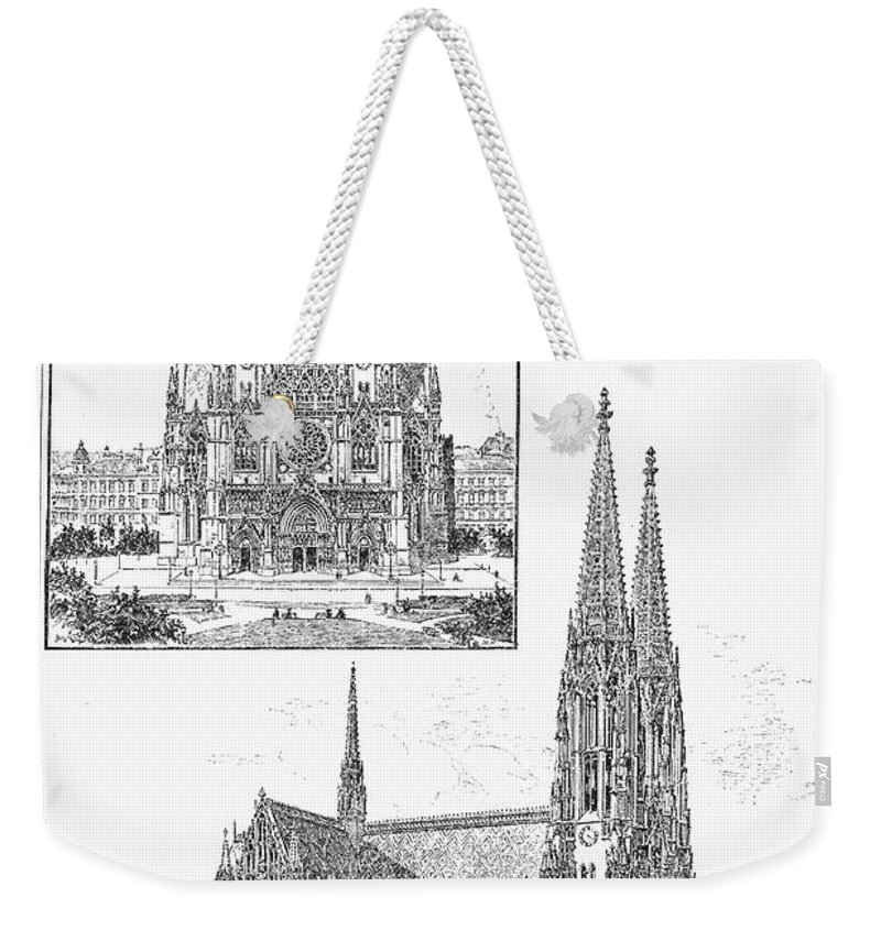 1889 Weekender Tote Bag featuring the photograph Vienna: Votive Church by Granger