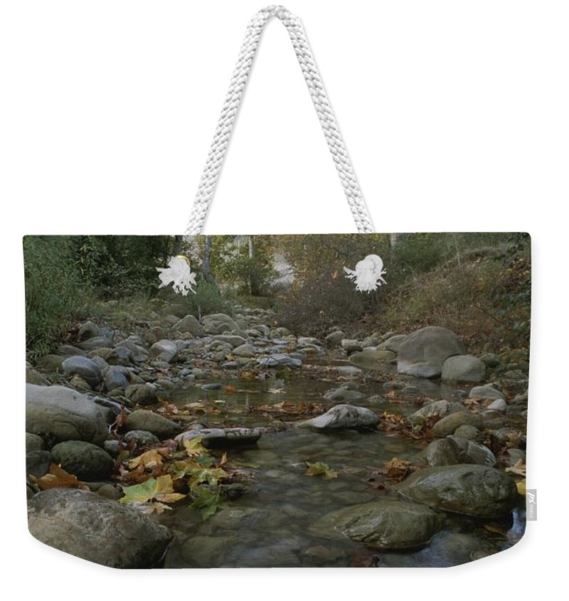 North America Weekender Tote Bag featuring the photograph View Of The Arroyo Hondo Creek by Rich Reid
