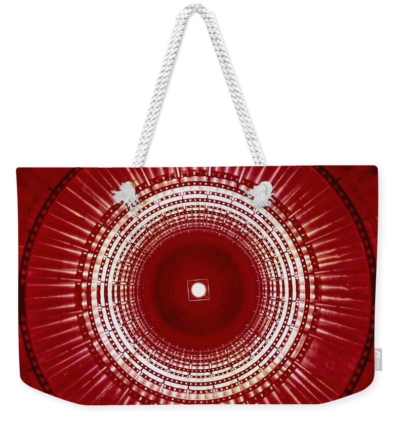 North America Weekender Tote Bag featuring the photograph View Of The Interior Of A Titan Missile by Paul Chesley