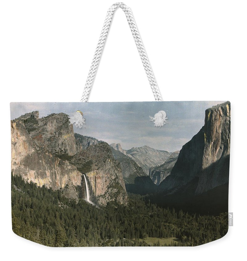Day Weekender Tote Bag featuring the photograph View Of The Mountain El Capitan by Charles Martin