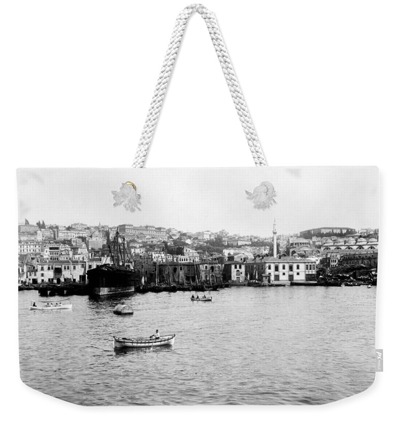 Istanbul Weekender Tote Bag featuring the photograph View Of Tophane - Istanbul - From The Sea - Turkey by International Images
