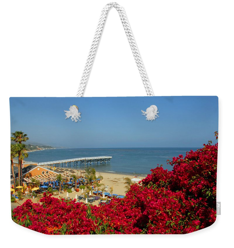 Paradise Cove Weekender Tote Bag featuring the photograph View Over Paradise by Lynn Bauer
