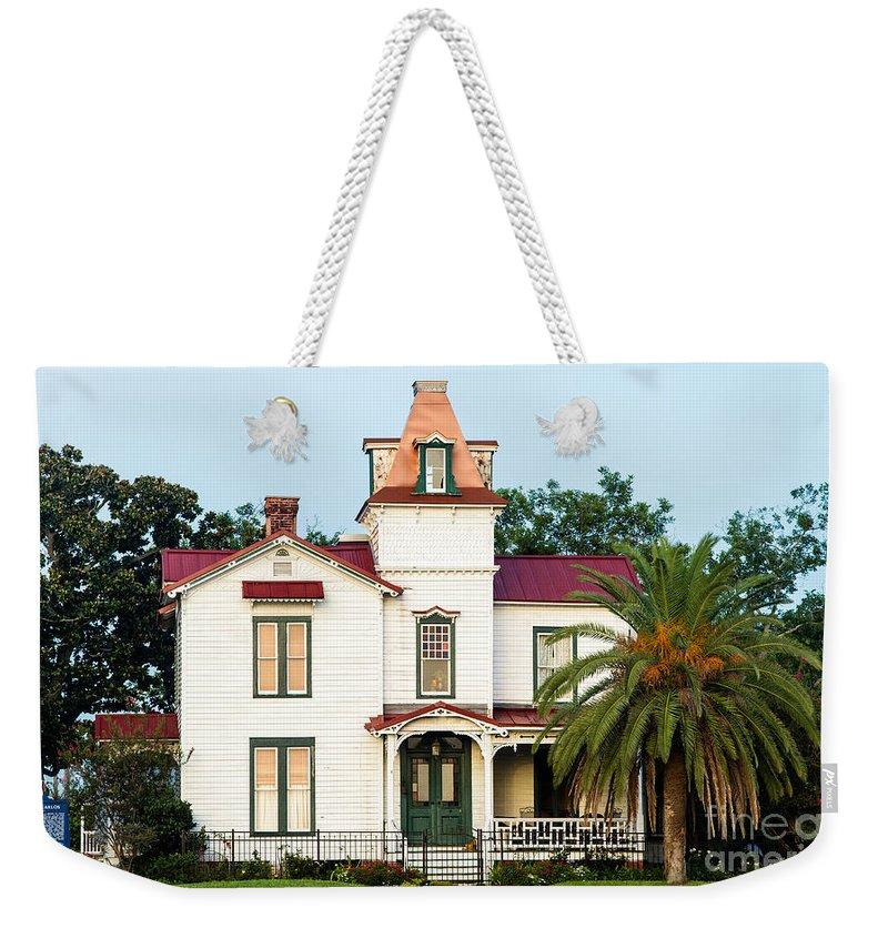 The Pippi Longstocking House Weekender Tote Bag featuring the photograph Villa Villekulla The Pippi Longstocking House Amelia Island Florida by Dawna Moore Photography