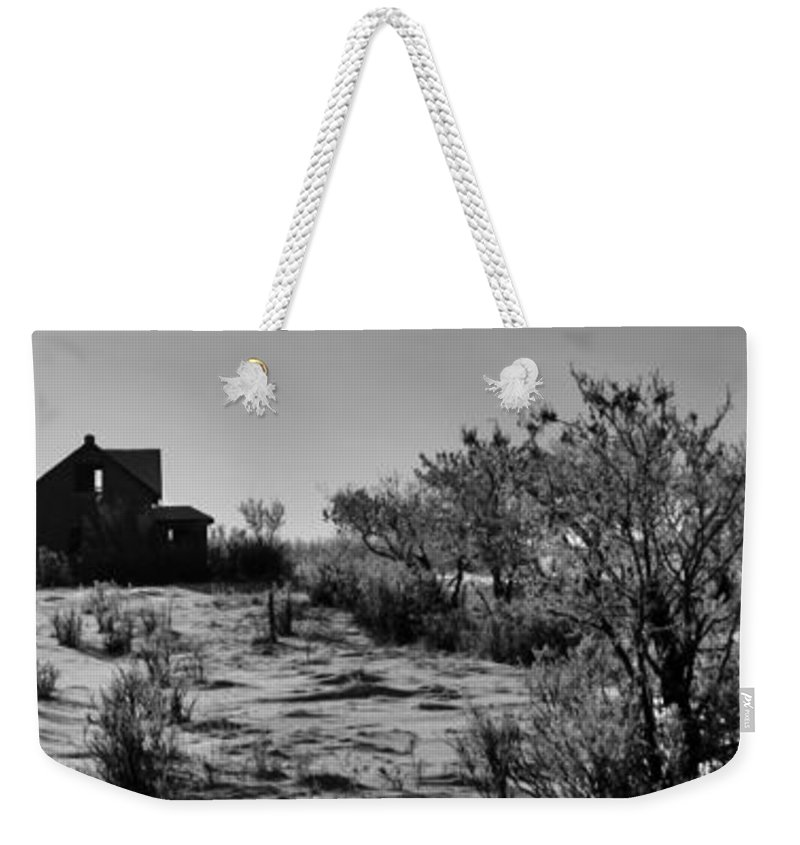 Black And White Photography Weekender Tote Bag featuring the photograph Village View by The Artist Project