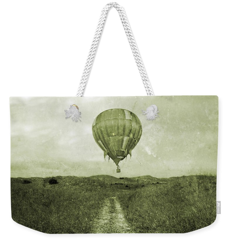 Hot Weekender Tote Bag featuring the photograph Vintage Ballooning by Betsy Knapp
