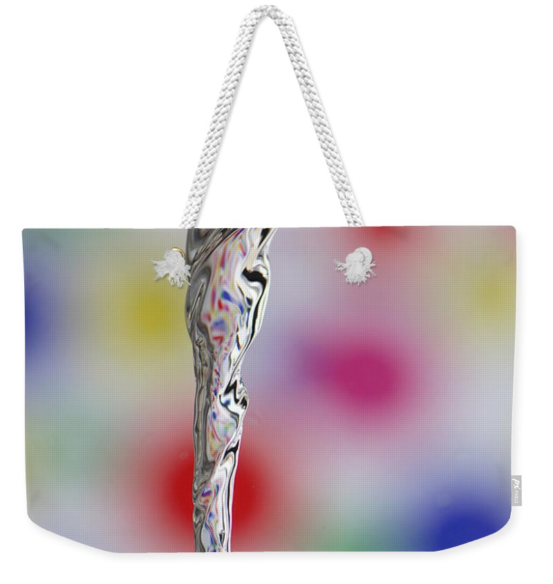 Science Weekender Tote Bag featuring the photograph Vortex In Water by Ted Kinsman