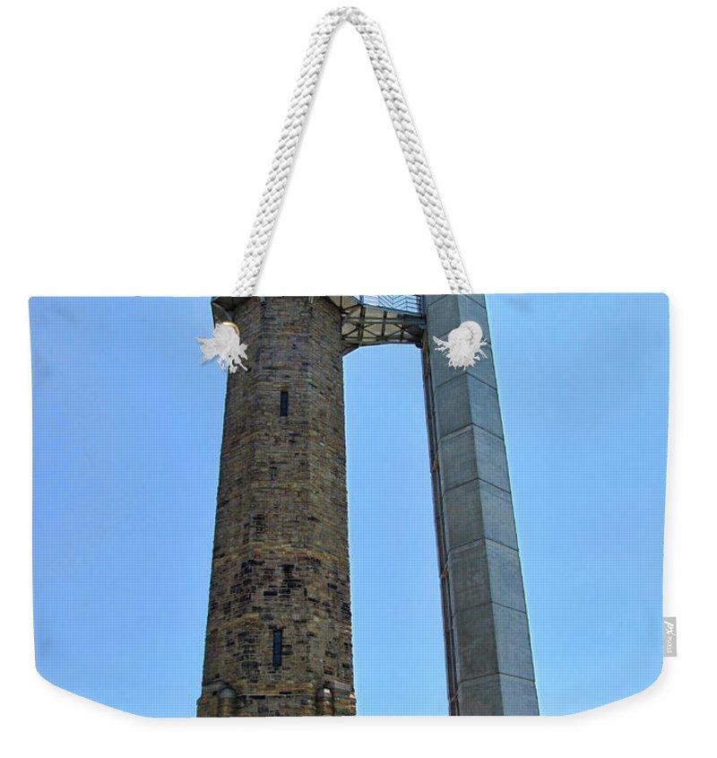 Vulcan Park Weekender Tote Bag featuring the photograph Vulcan Park Statue Birmingham Alabama Usa by Kathy Clark