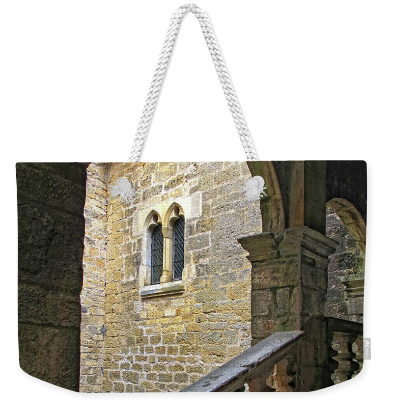France Weekender Tote Bag featuring the photograph Walking Through A French Castle by Dave Mills
