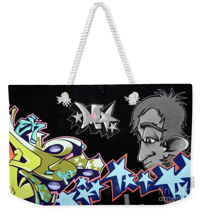Graffiti Weekender Tote Bag featuring the photograph Wall Art 1 by Bob Christopher
