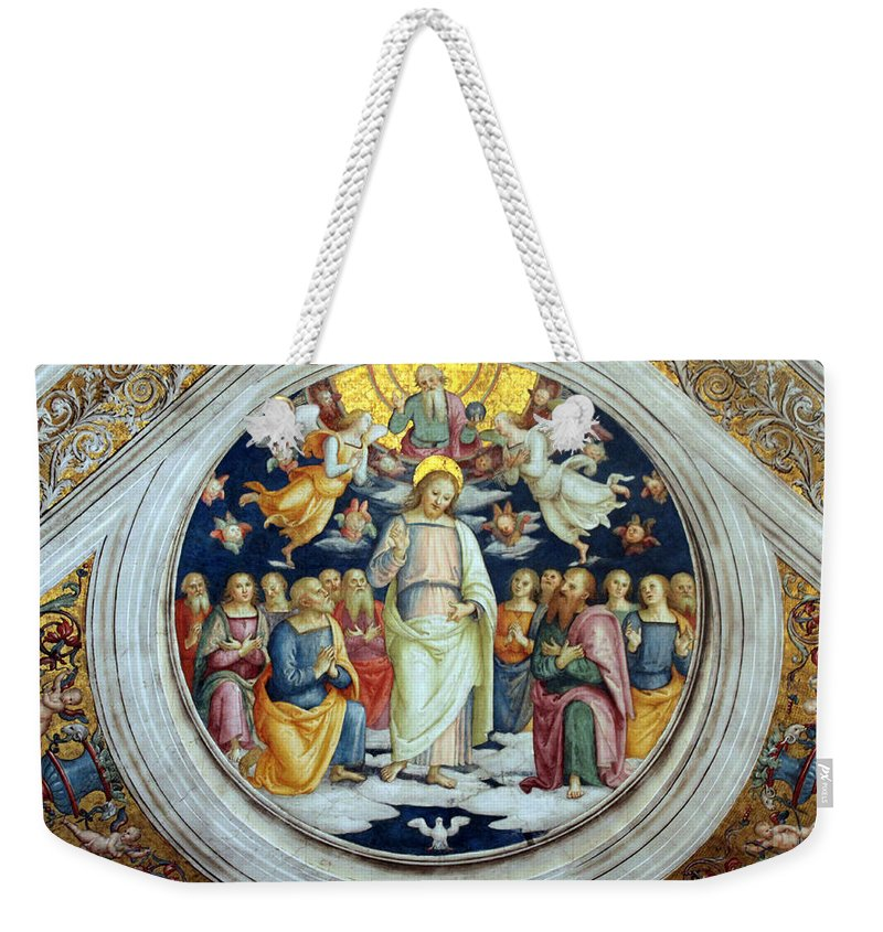 Jesus Weekender Tote Bag featuring the photograph Wall Painting by Munir Alawi