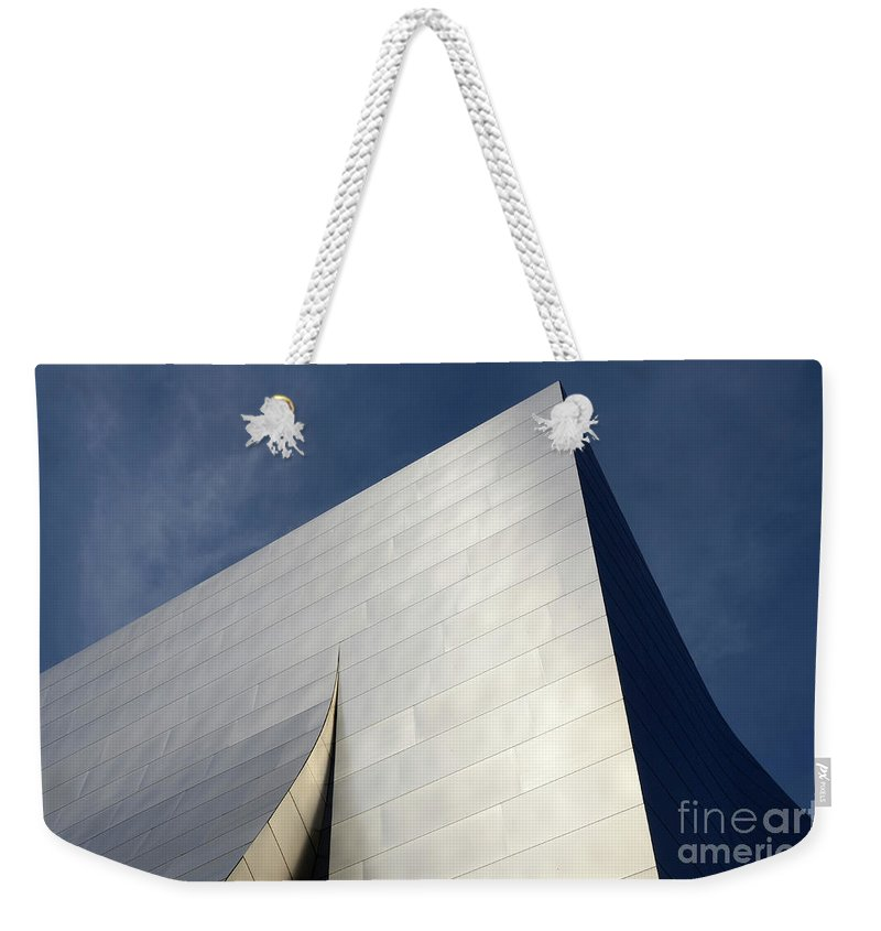 Disney Weekender Tote Bag featuring the photograph Walt Disney Concert Hall 5 by Bob Christopher