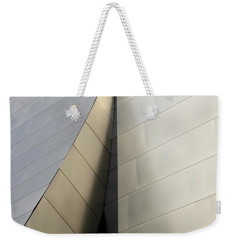 Disney Weekender Tote Bag featuring the photograph Walt Disney Concert Hall 6 by Bob Christopher
