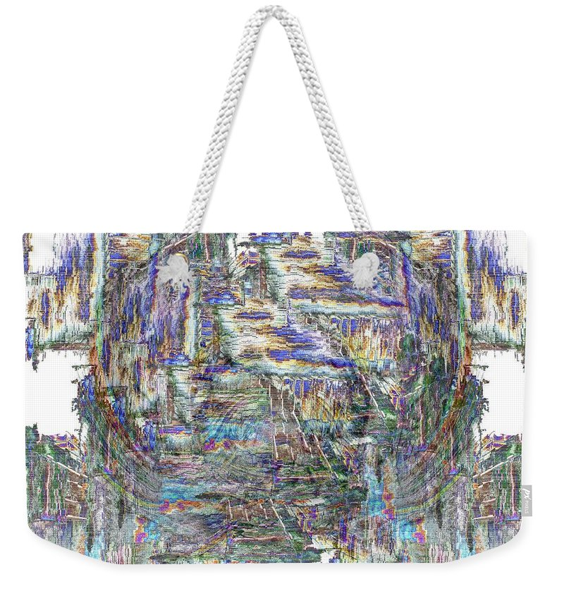 Abstract Weekender Tote Bag featuring the digital art Wanderings by Tim Allen