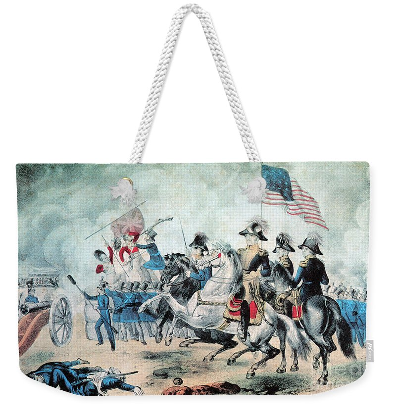 Andrew Jackson Weekender Tote Bag featuring the photograph War Of 1812 Battle Of New Orleans 1815 by Photo Researchers
