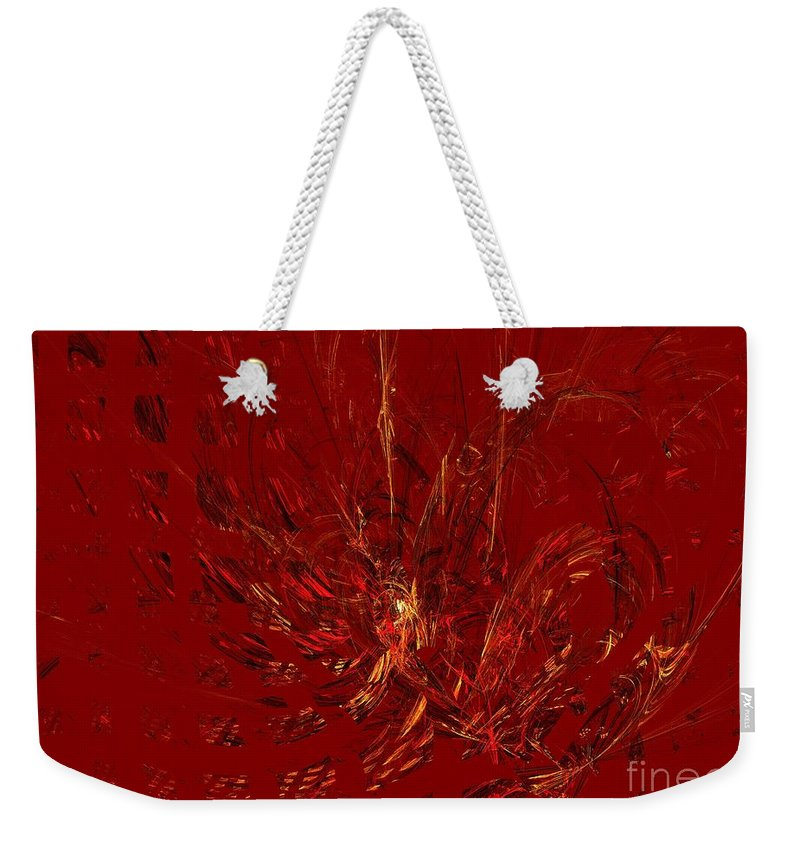 Apophysis Weekender Tote Bag featuring the digital art Warmth by Kim Sy Ok