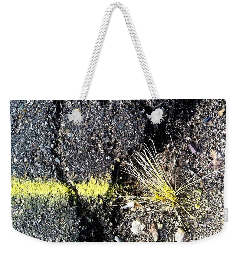 Yellow Paint Weekender Tote Bag featuring the photograph Wash Day One by Marlene Burns
