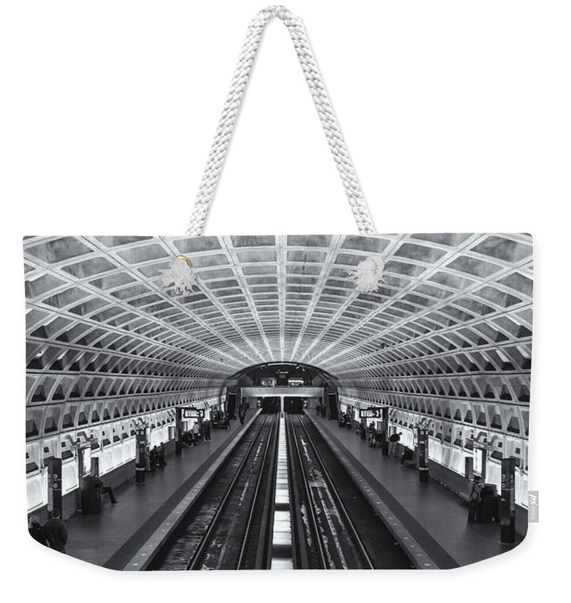 Clarence Holmes Weekender Tote Bag featuring the photograph Washington Dc Metro Station II by Clarence Holmes