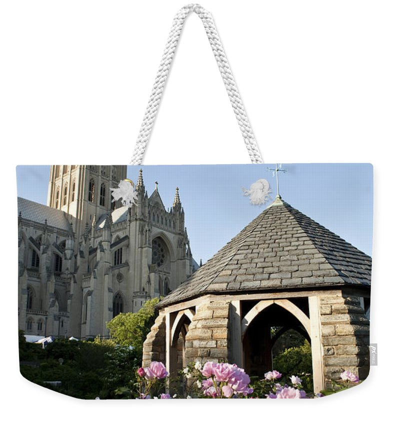 Architecture Weekender Tote Bag featuring the photograph Washington National Cathedral And Stone by Richard Nowitz