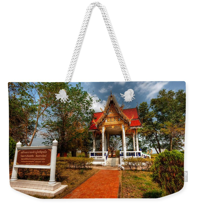 Hdr Weekender Tote Bag featuring the photograph Wat Kham Chanot by Adrian Evans