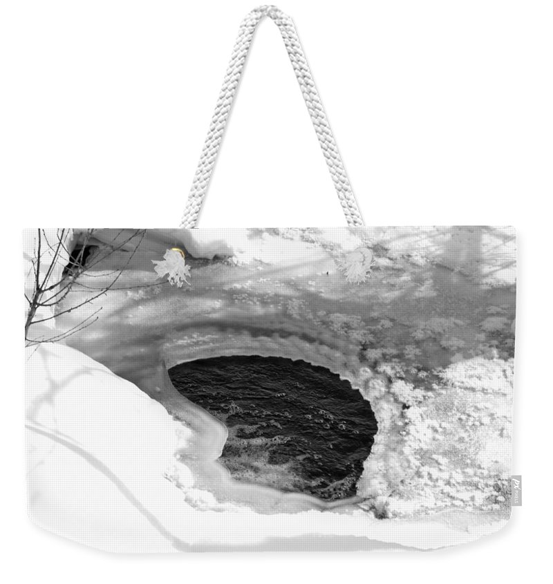 Beautiful Weekender Tote Bag featuring the photograph Water And Ice by Michael Goyberg