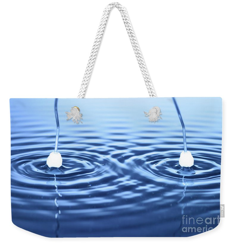 Interverence Weekender Tote Bag featuring the photograph Water Waves by Ted Kinsman