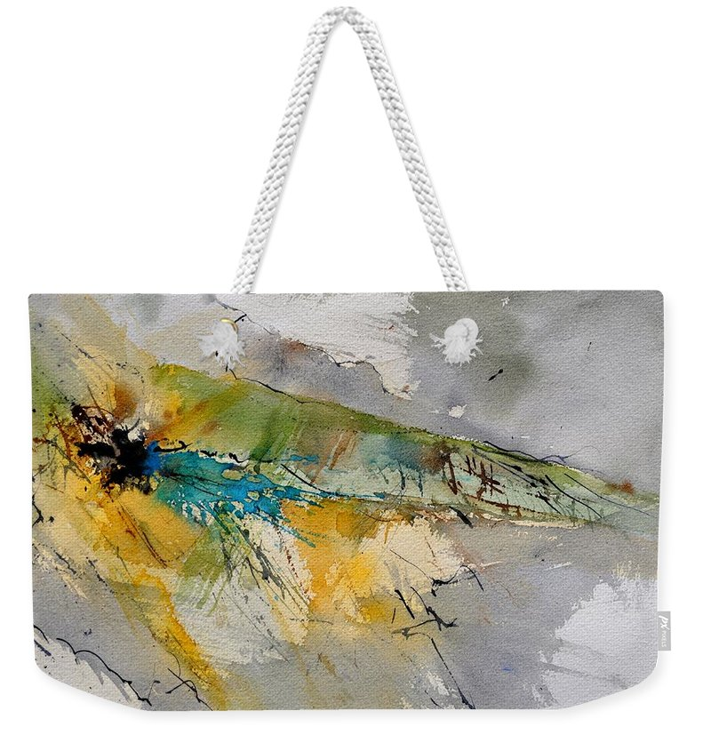 Abstract Weekender Tote Bag featuring the painting Watercolor 213001 by Pol Ledent