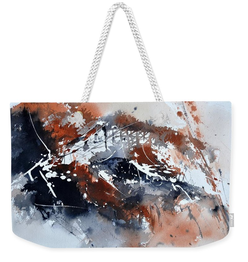 Abstract Weekender Tote Bag featuring the painting Watercolor 217051 by Pol Ledent