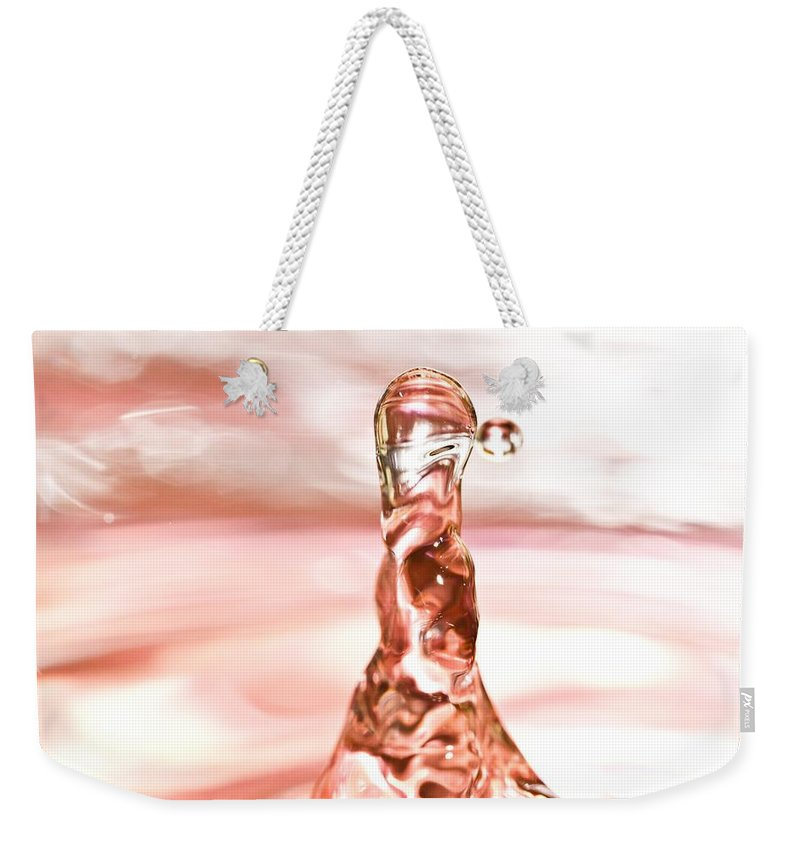 Water Drop Weekender Tote Bag featuring the photograph Waterdrop7 by Danielle Silveira