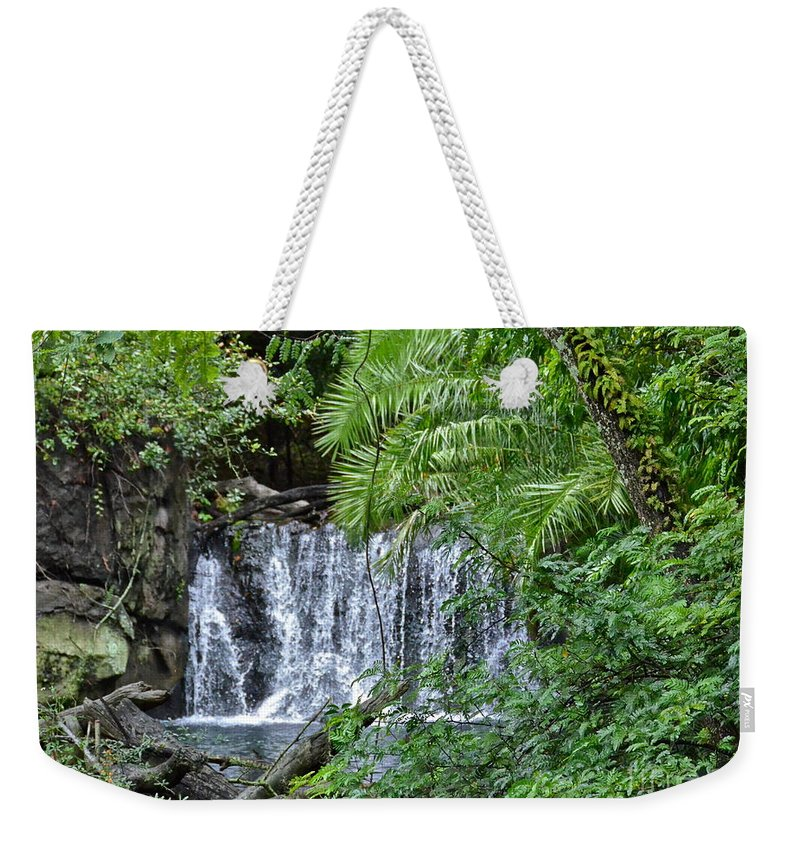 Waterfall Weekender Tote Bag featuring the photograph Waterfall by Carol Bradley