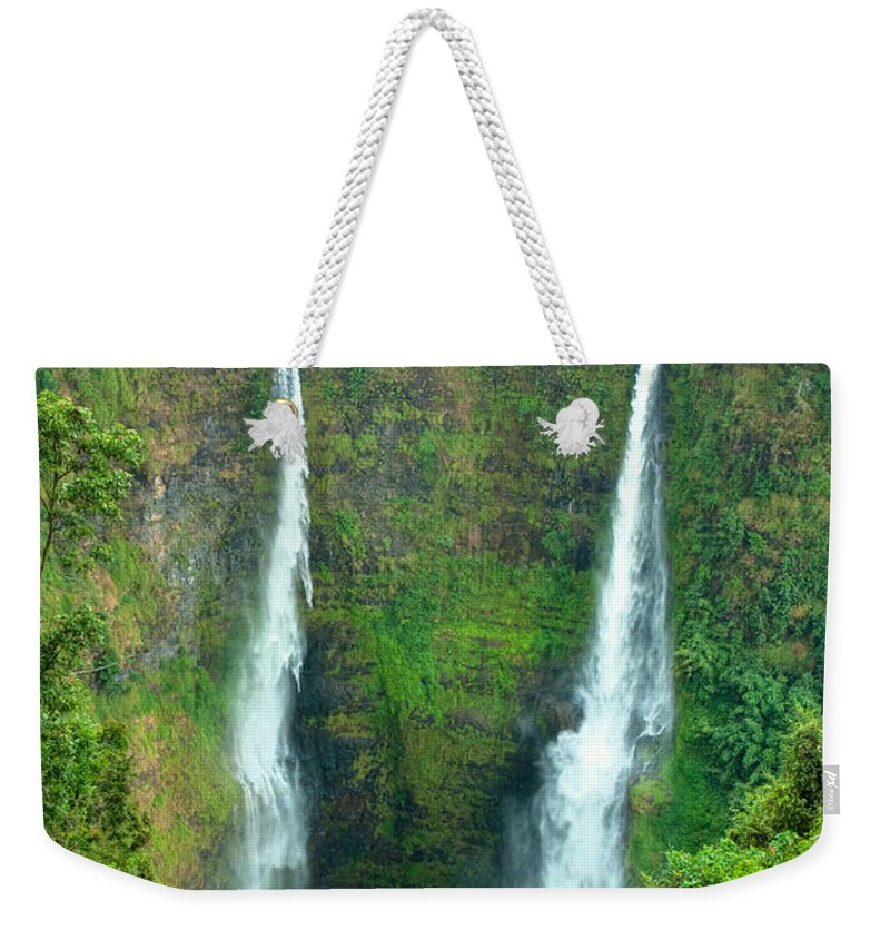 Alternative Weekender Tote Bag featuring the photograph waterfall in Laos by Luciano Mortula