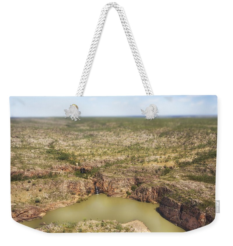 Waterfalls Weekender Tote Bag featuring the photograph Waterfall Twins by Douglas Barnard