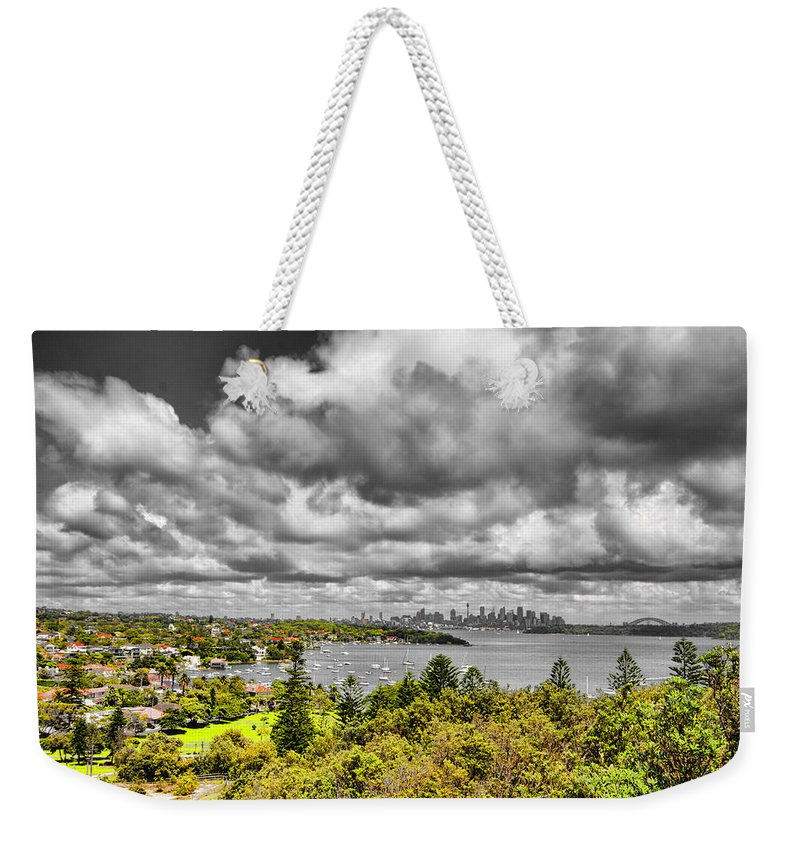 Watson Bay Weekender Tote Bag featuring the photograph Watson Bay Sydney Harbor by Douglas Barnard